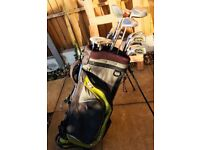 Set of Left-Handed Golf Clubs with Callaway Bag