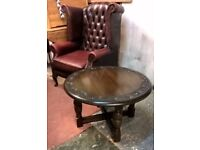 Rare Jaycee Vintage Oak Old Charm Coffee/Card/pub Round Table *FREE LOCAL DELIVERY* (not ercol pine)