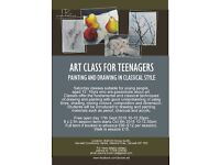 ART CLASS FOR TEENAGERS