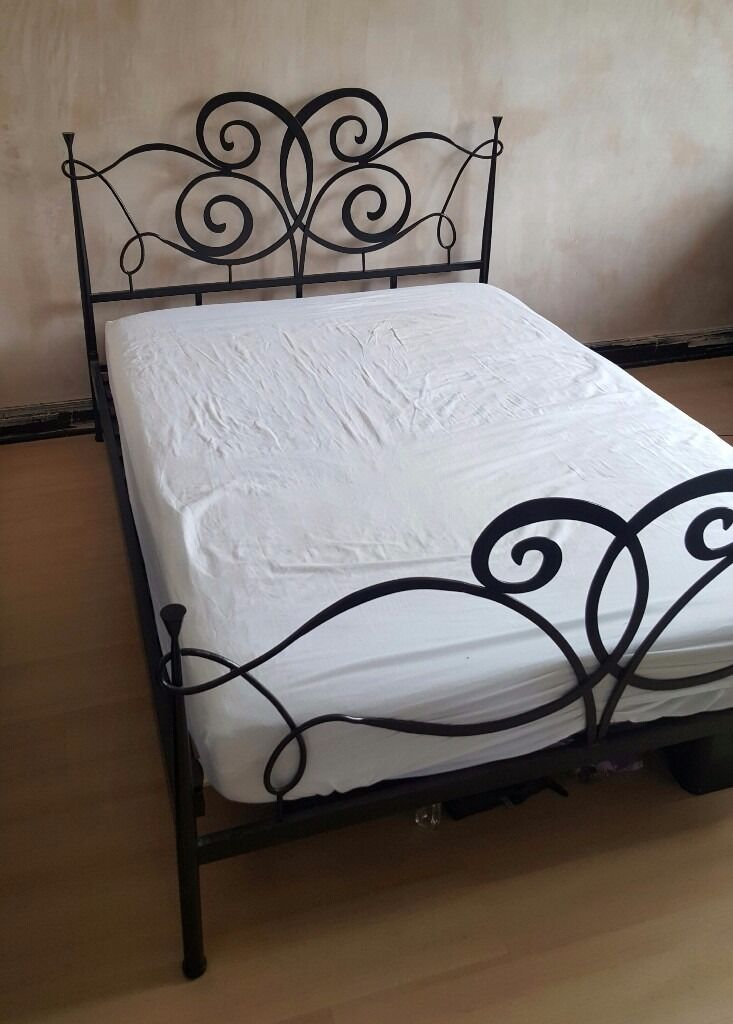 Next Black Wrought Iron Double Bed Frame In Sheffield South