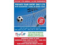 PhysCap Annual 5 a Side Football Tournament. 23rd July 2017.