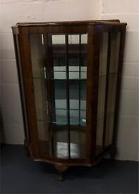 *** Lovely Wooden Side Cabinet With Glass Doors*** in good condition