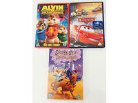 Boys/Childrens DVD Bundle x3 Disney Cars/Scooby Doo Arabian Nights/Alvin and the Chipmunks