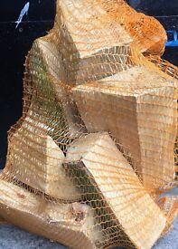 Hardwood logs - net bags