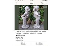 MY price £90 pair 36 inches tall stone statues