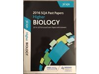 Higher Biology SQA Past Papers 2014-16 Book
