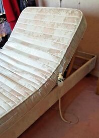 Single Fully Adjustable Electric Bed, includes a Quality Mattress
