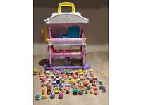 Shopkins CARRY ALONG TALL TO SMALL SHOPPING MALL ELEVATOR PLAY SET TO