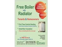 Free Boiler With Radiators for properties using portable heaters