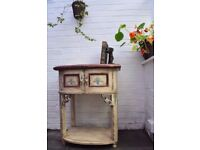 Vintage French Console Table Chest Sideboard Beautifully Detailed Paint