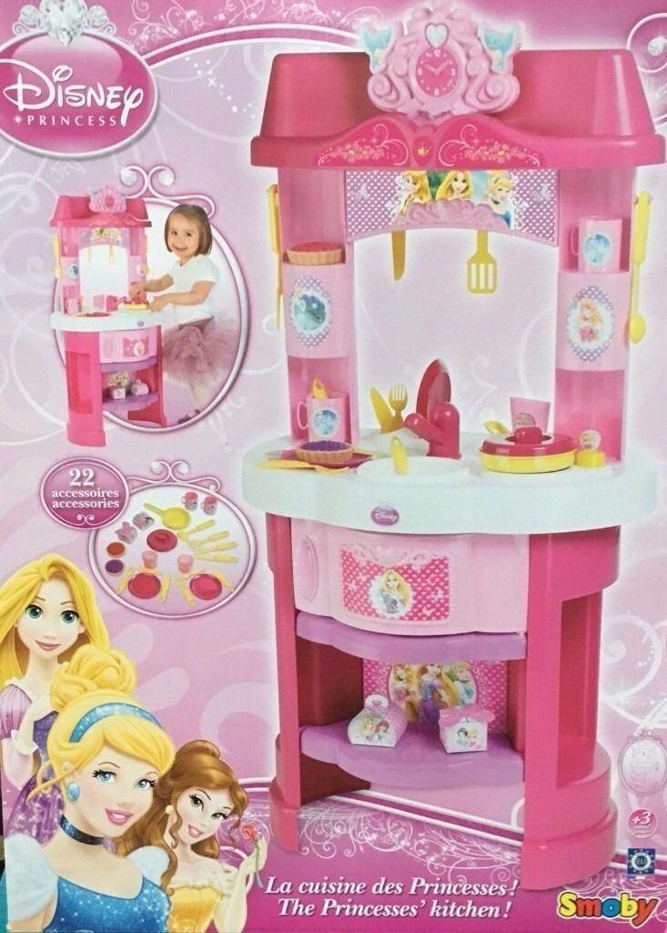 kids disney princess kitchen with accessories bnib.