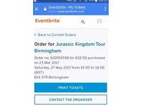 2x Jurassic Kingdom Tour Tickets, including VR experience