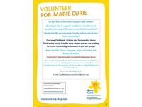 Marie Curie Volunteers Wanted