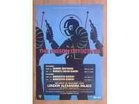 "ORIGINAL ""PIGEON DETECTIVES"" TOUR POSTER FROM MANCHESTER UK"