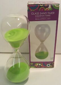 Hourglass Half Hour Glass Sand Timer Coloured Sand (approx 30min cycle)