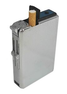 Stylish Windproof 2 in 1 Metal Cigarette Case Lighter Holder