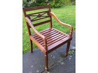 Indonesian genuine teak dining chairs, set of 6