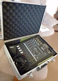Mackie Professional Mixer DFX 6 plus Samson Condenser Mike and Beyer Dynamic Mike