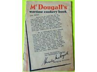 MILITARIA WW2 McDougalls Wartime Cookery book 32 pages.