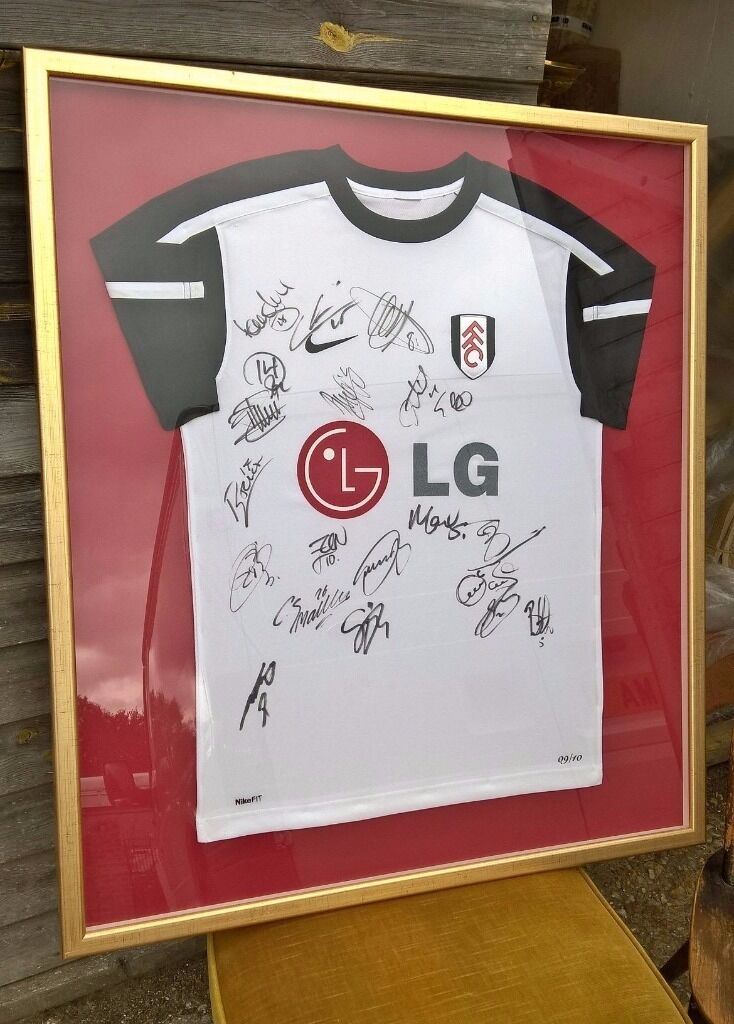 Signed Fulham Football Club Shirt 2009-10 ~ Europa League Final ...