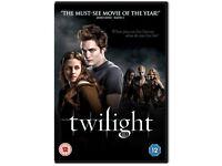 COMPLETE SET OF ORIGINAL TWILIGHT DVDS