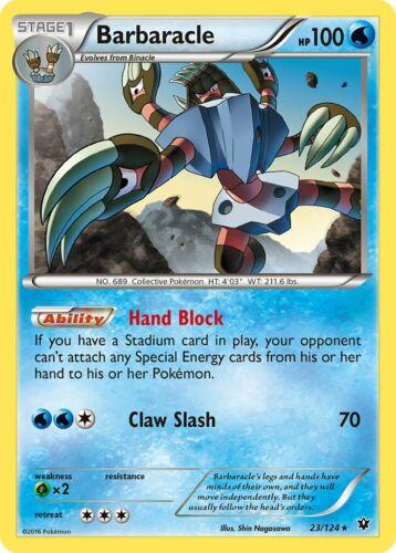Pokemon BARBARACLE 67//131 RARE REVERSE HOLOFOIL NM CARD  FORBIDDEN LIGHT