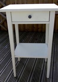 Ikea bedside table with pull out drawer