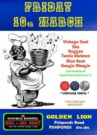 FRIDAY 16th MARCH - 60s 70s SOUL / REGGAE / MOTOWN with DOUBLE BARREL – FISHPONDS