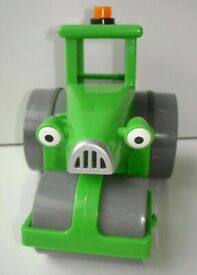 Bob The Builder Roley Green Steamroller Friction Powered Vehicle Toy
