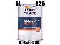 Dulux Trade Quick Dry Gloss 5L Pure Brilliant White £25