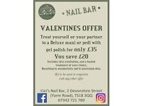 Deluxe Mani or Pedi with Gel polish for only £35. Offer available until 14th Feb 2017
