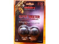 SUPER TWEETERS - ONE PAIR - NEW & UNUSED (UNICARS F06402)