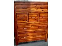 Mark Webster Kember Solid Acacia Wood Six Drawer Chest