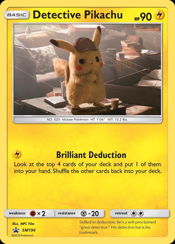 DETECTIVE PIKACHU Holo Promo Bundle Pokemon Cards