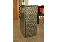 Metal 6 drawer cabinet 68cm high.