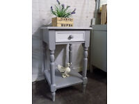 Painted Grey White Pine Hall Console Side Table