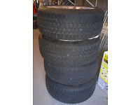 BMW winter tyres 225/45 R17 on BMW alloy rims (used)