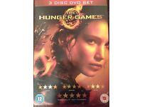 4 disc DVD's Hunger Games