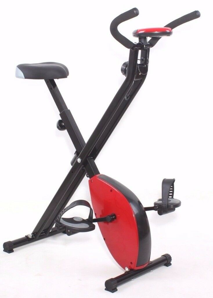 Exercise Bike Magnetic X- Bike Folding With Adjustable Resistance: NEW