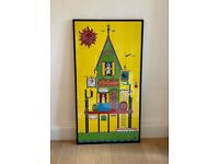 """LARGE ROLLY CRUMP POP ART POSTER """"THE OAR HOUSE"""" C.1960"""