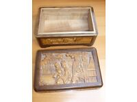 Chinese carved wooden box