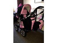 Baby pink pram