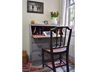 Shabby Chic Writing Bureau Desk Painted Farrow and Ball