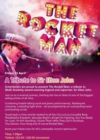 2 Front Row Tickets The Rocket Man - A Tribute Sir Elton John , Lanark 13th April £35 the pair