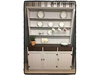 Pine Kitchen Dresser Hand Painted in Mineral Paint.