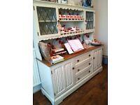 Beautiful Large Oak Welsh Dresser Painted Ann Sloan Country Farmhouse W 160cm x D 48cm x H 165cm