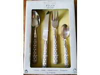 NEXT 16 Piece Cutlery Set, Polka Dot