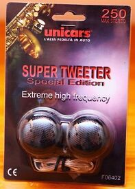 SUPER TWEETERS - ONE PAIR - NEW & UNUSED (UNICARS F06402)