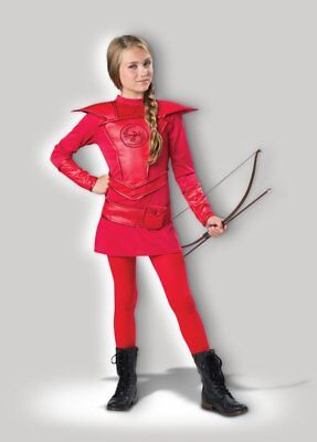 In Character Red Girl's Warrior Huntres Child Halloween Costume Small (8-10)