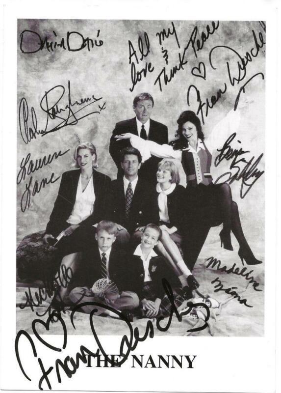 THE NANNY Fran Drescher SIGNED Autographed Promo 5x7 Postcard